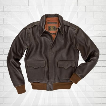 A2 Flight Cockpit Brown Bomber Leather Jacket