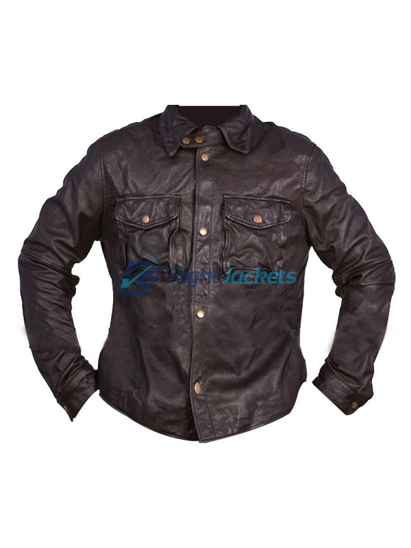 Addicted William Levy Quinton Canosa Brown Leather Jacket (Copy)