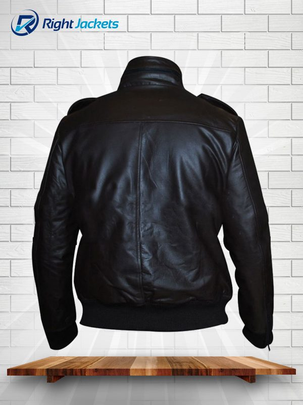 Detective Jake Peralta Brooklyn Nine-Nine Andy Samberg Leather Jacket Black
