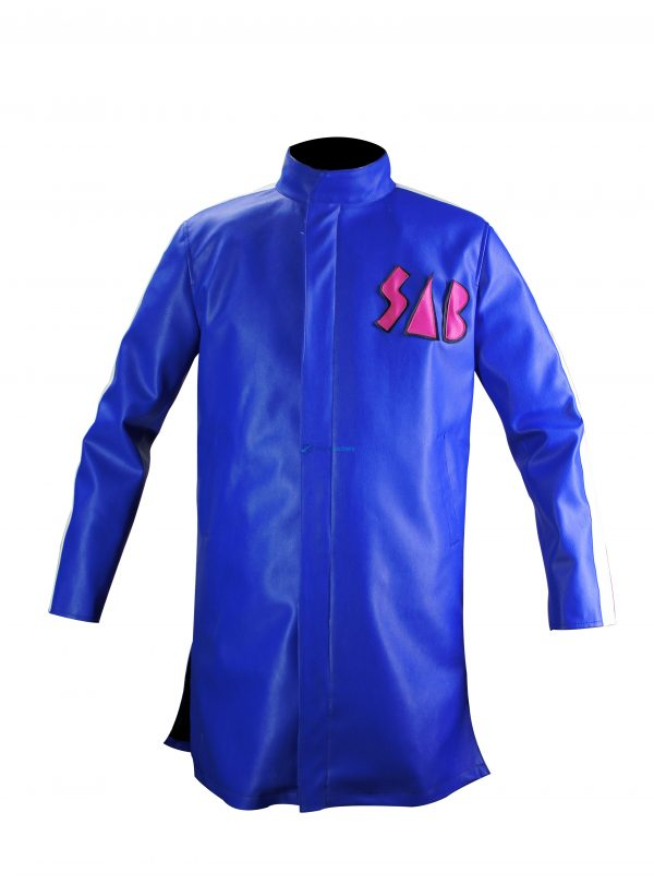 Dragon Ball Super Movie Broly Vegeta Sab Green Leather Coat Jacket