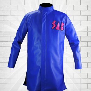 Dragon Ball Super Movie Broly Goku Sab Blue Leather Coat Jacket Blue Or Green goku sab jacket blue