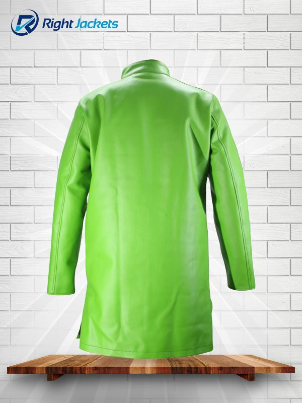 Dragon Ball Super Movie Broly Goku Sab Blue Leather Coat Jacket Green