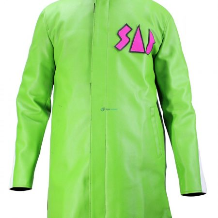 Dragon Ball Super Movie Broly Vegeta Sab Green Leather Coat