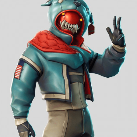 Fortnite Growler Animal Dog Hood Leather Jacket