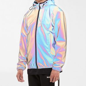 Reflective Sole Boy Rainbow Iridescent Puffer Jacket Right Jackets