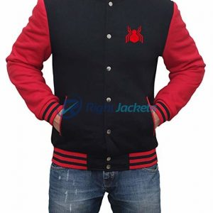 Spider Man Far From Home Red Varsity Jacket