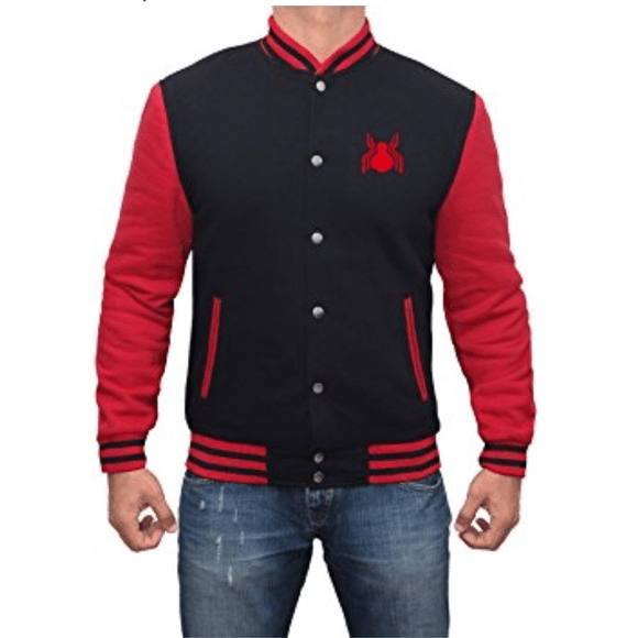Spider Mans Far From Home Red Varsity Jacket
