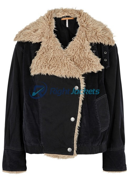 Taylor Swift Movie Musical Cats Black Shearling Fur Jacket
