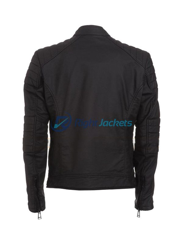 Arrow John Barrowman Black Real Leather Jacket