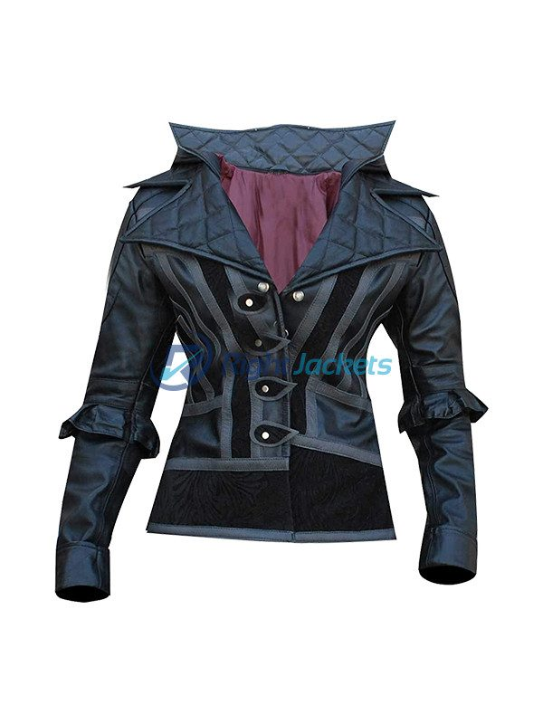 Assassin's Creed Syndicate Evie Frye Costume Red And Black Coat