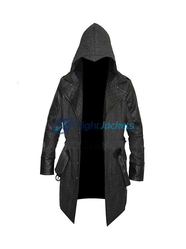 Assassin's Creed Syndicate Jacob Frye Leather Wool Coat