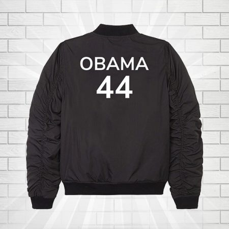 Barack Obama 44 Black Bomber Jacket