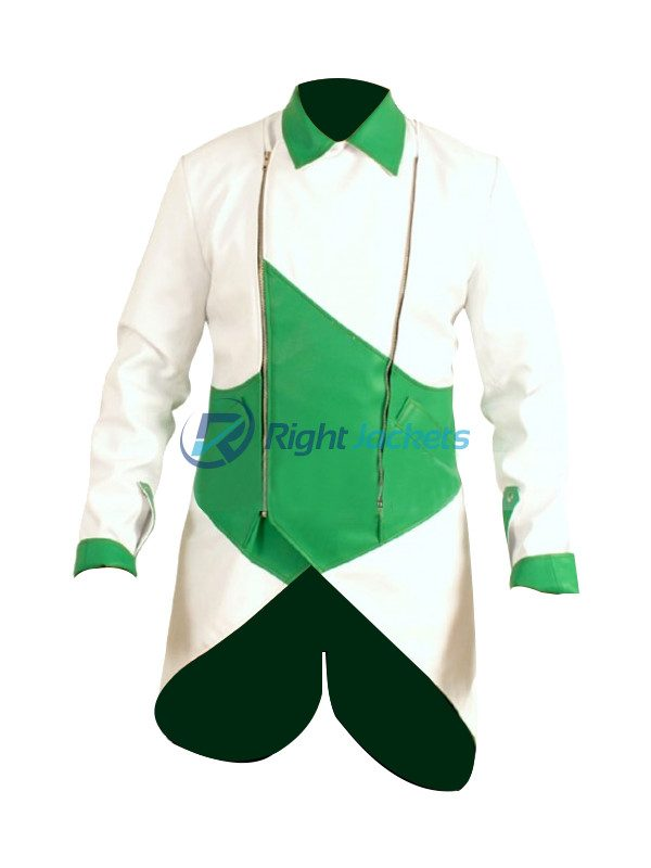 Connor Kenway Assassin's Creed 3 Faux Green White Jacket Costume