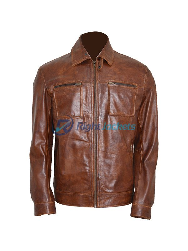 David Ramsey Arrow S4 Stylish Brown Leather Jacket