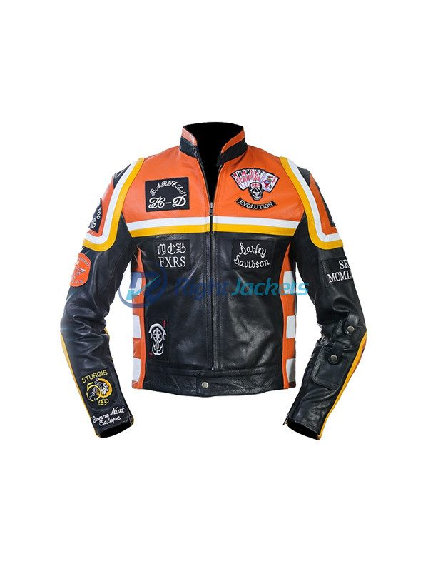 Harley Davidson & The Marlboro Man Biker Style Leather Jacket (Copy)