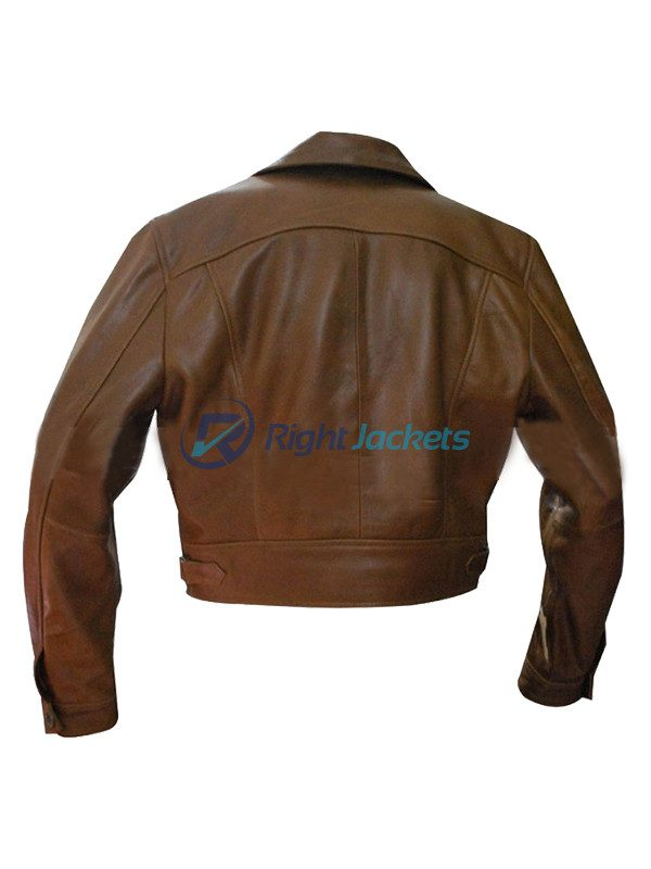 Howard Hughes Aviator Leonardo Dicaprio Brown LeatherJacket
