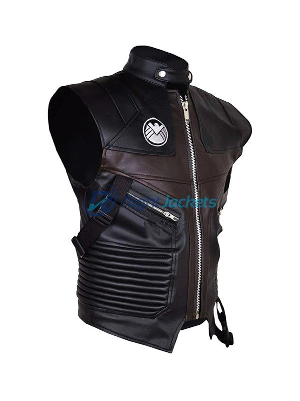 Jeremy Renner Avengers Hawkeye Costume Leather Vest