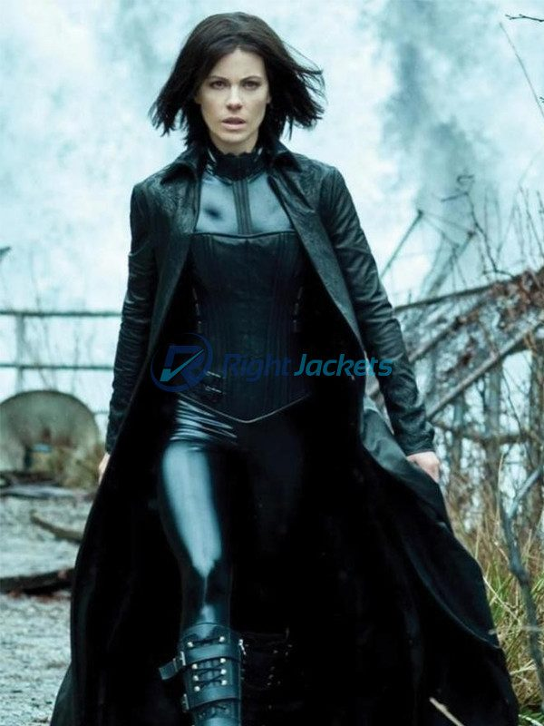 Kathrin Romary Beckinsale Black Underworld Coat With Corset