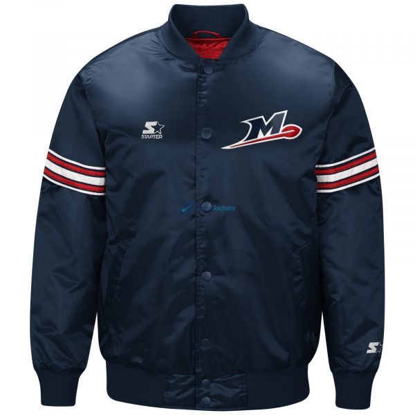 Memphis Express Starter Training Jacket In Faux Leather