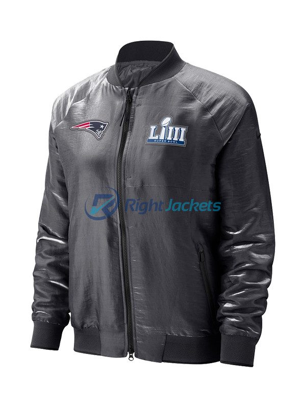 New England Patriots JH Design Navy Embroidered Logo Poly Twill Jacket