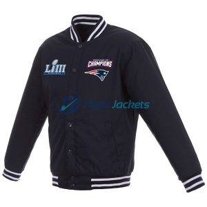 Super Bowl LIII Champions Embroidered Reversible Wool Jacket