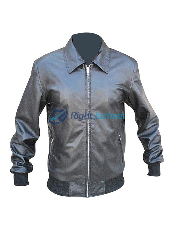 Stephen Amell Arrow S3 Oliver Queen Black Bomber Leather Jacket