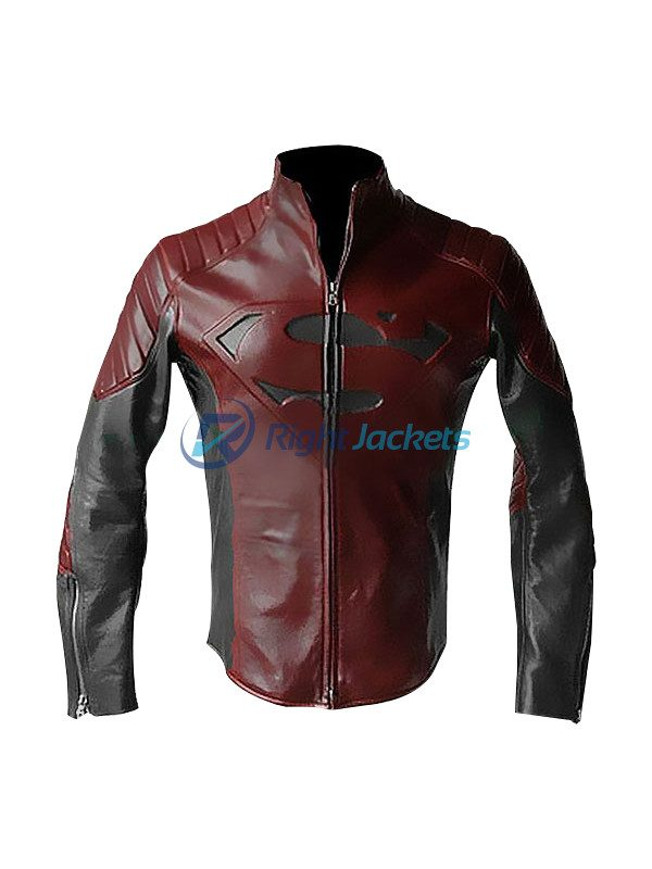 Superman Man Of Steel Clark Kent Leather Brown Jacket
