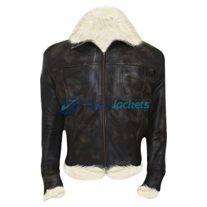 Vin Diesel Triple X Stylish Brown Leather Fur Jacket