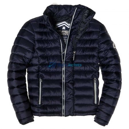 Superdy Men Veste Bomber Cotton Blue Fuji Jacked