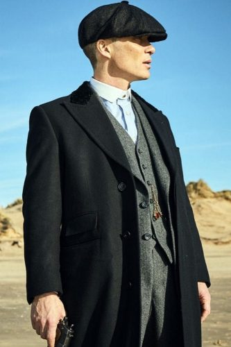 Wool Cillian Murphy Tommy Shelby Peaky Blinders Black Long Jacket