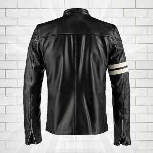 Driver San Francisco John Tanner Black Biker Slim Fit Rider Jacket