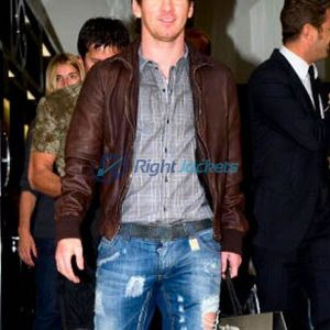 Lionel Messi 2018 FIFA World Cup Brown Leather Jacket
