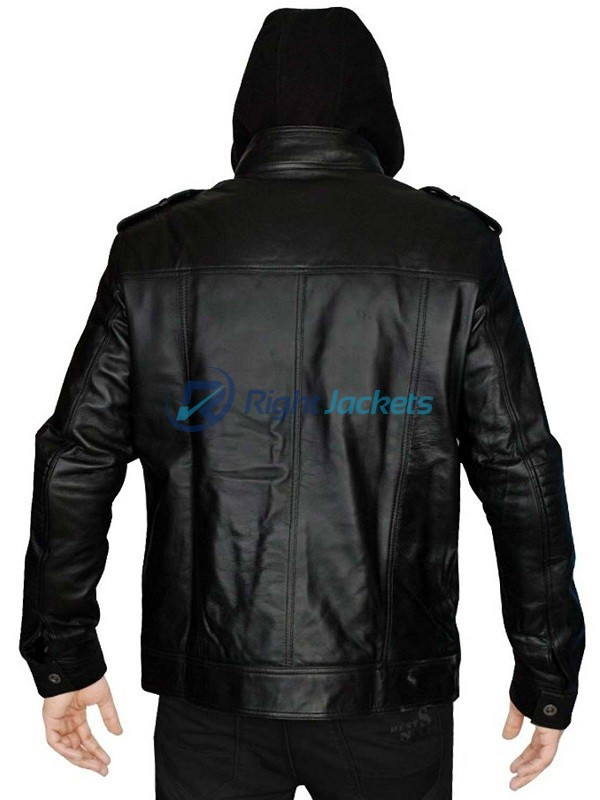 AJ Styles Allen Neal Jones Black Hoodie Leather Jacket