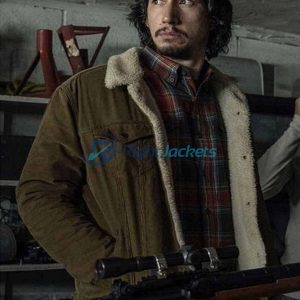 Adam Driver BlacKkKlansman Flip Zimmerman Brown Cotton Jacket