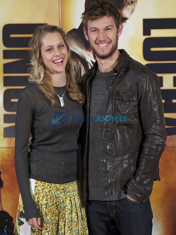 Alex Pettyfer Stormbreaker Alex Rider Brown Leather Jacket