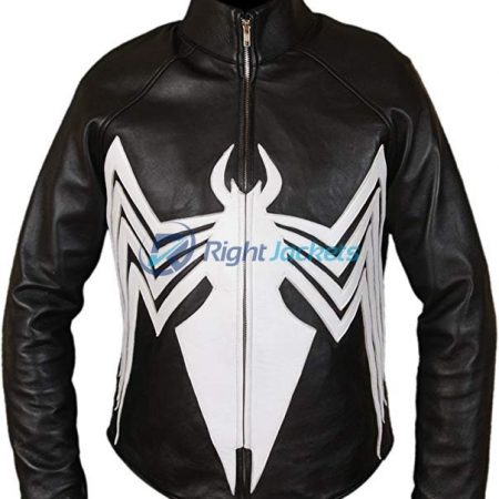 Amazing Spider Man Venom Spiderman Black Leather Jacket