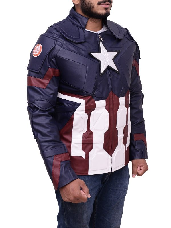 American Actor Chris Evans Avengers Age Of Ultron Jacket