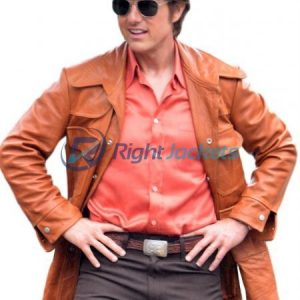American Made Tom Cruise Mena Barry Seal Brown Leather Jacked