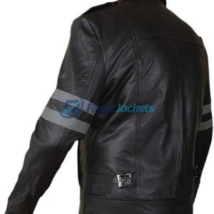 Ansel Elgort Fault In Our Stars Black Waxed Leather Jacket