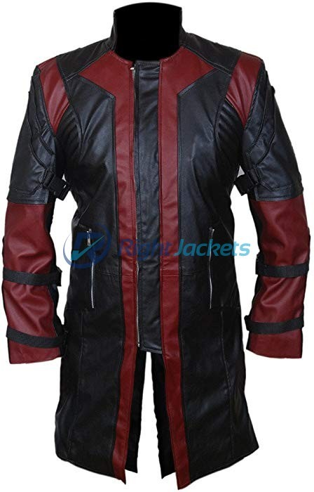 Avengers Age of Ultron Hawkeye Black Long Costume Coat