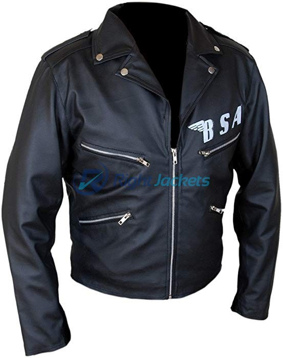 BSA George Michael Faith Rockers Revenge Black Leather Jacket