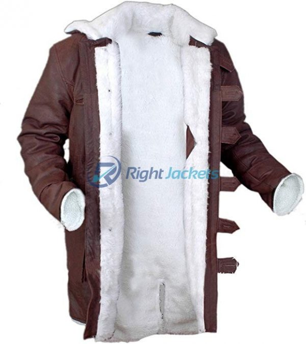 Bane Stonewash Leather Shearling Brown Long Coat