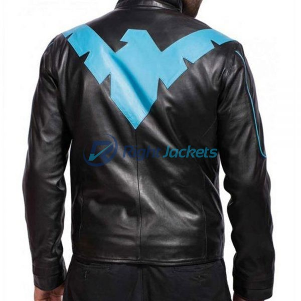 Batman Arkham Knight Dick Grayson Nightwing Biker Leather Jacket