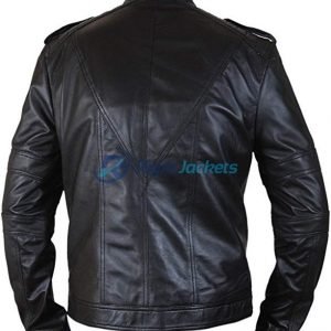 Batman Beyond Arkham Knight Black Costume Leather Jacket