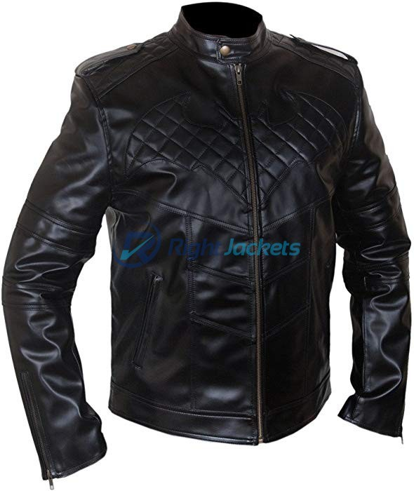 Batman Christian Bale Black Faux Leather Jacket