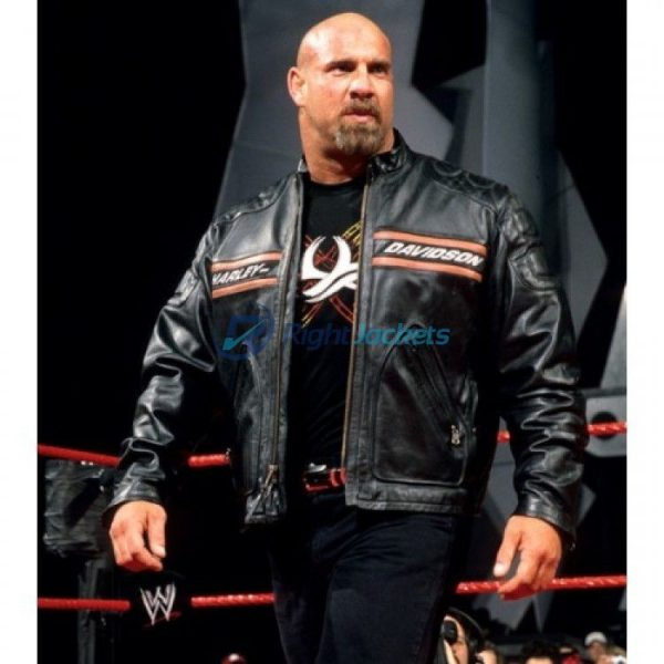 WWE Bill Goldberg Harley Davidson Black Bikers Jacket