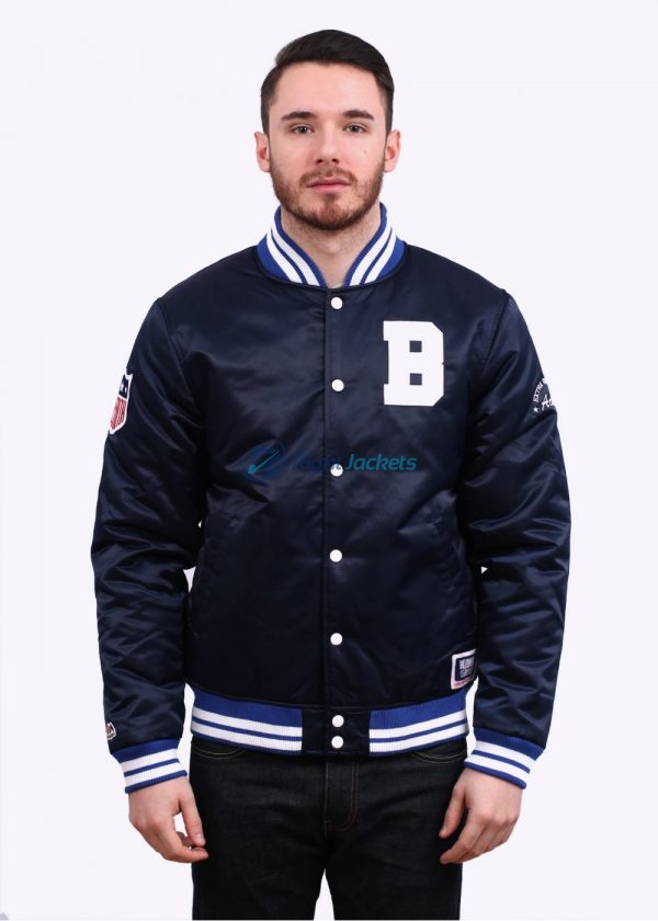 Billionaire Boys Club Reversible Navy B Logo Blue Satin Jacket