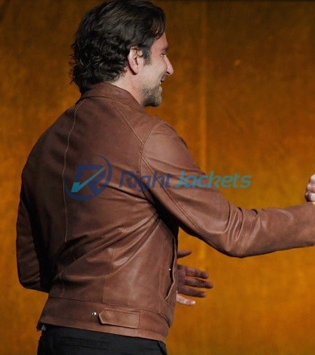 Bradley Cooper A Star Is Born Brown Leather Jacket