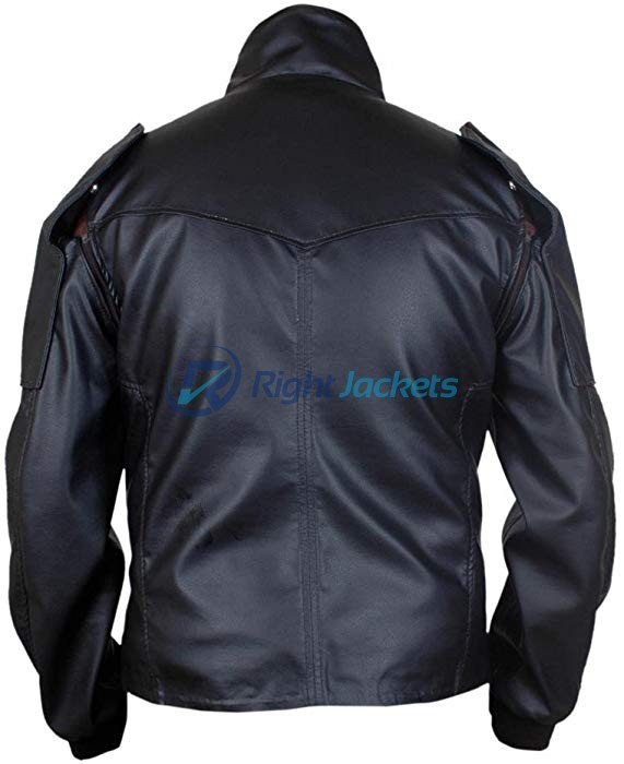 Captain America Bucky Barnes Removable Arms Black Leather Jacket