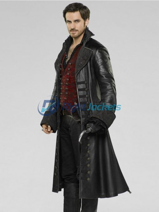 Colin O'Donoghue Once Upon A Time Captain Hook Black Coat